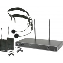 Dual UHF Wireless Beltpack System (Chord)