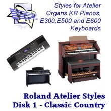 Classic Country - Roland Classic Styles Disk 1