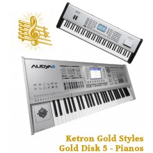 Piano Solos - Ketron Gold Styles Disk 5