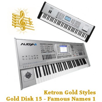 Famous Names Vol 1 - Ketron Gold Styles Disk 15
