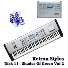 Shades of Green Vol 2 - Ketron Blue Styles Disk 11