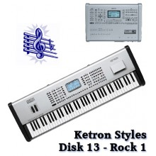 Rock 1 - Ketron Blue Styles Disk 13