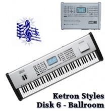 Ballroom - Ketron Blue Styles Disk 6