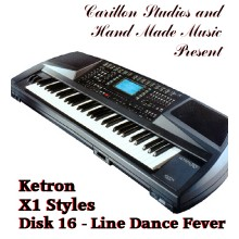 Line Dance Fever - Ketron Red Styles Disk 16