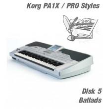 Ballads - Korg Silver Style Disk 5