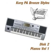 Piano's - Korg Bronze Style Disk 2