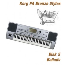 Ballads - Korg Bronze Style Disk 5