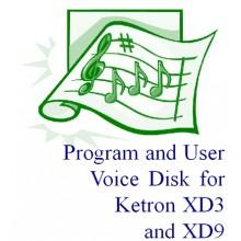 Ketron Sound Disk - XD3/XD9