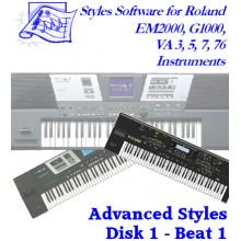 Beat Volume 1 - Roland Advanced Styles Disk 1