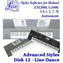 Line Dance - Roland Advanced Styles Disk 12