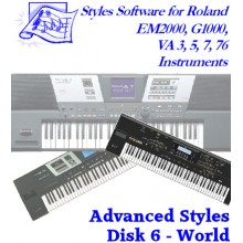 World - Roland Advanced Styles Disk 6