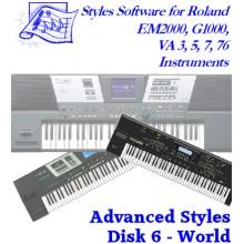 World - Roland Advanced Styles Disk 6