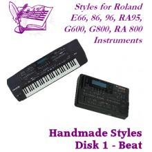 Beat Volume 1 - Roland Standard Styles Disk 1