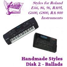Ballads - Roland Standard Styles Disk 2