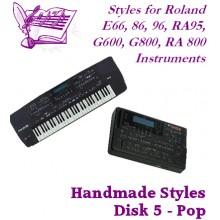 Pop - Roland Standard Styles Disk 5
