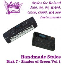 Shades of Green Volume 1 - Roland Standard Styles Disk 7