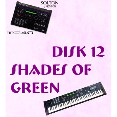 Shades of Green - Solton Pattern Disk 12